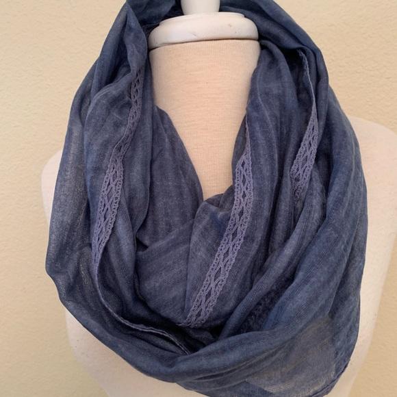 J. Jill Accessories - J Jill infinity Blue scarf